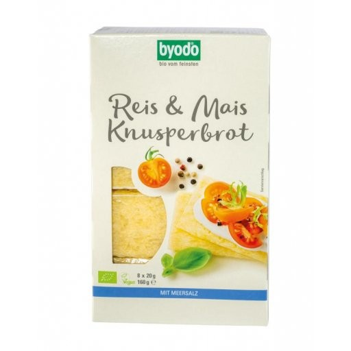 Knusperbrot Reis & Mais glutenfrei, 8x20g