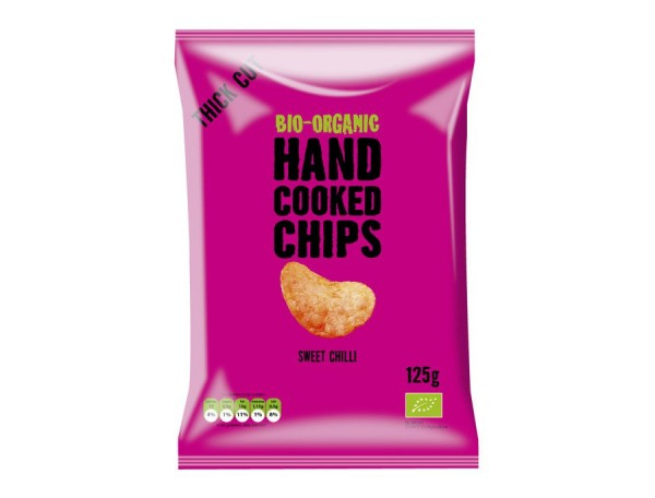 Handcooked-Kartoffelchips Sweet Chilli, 125g