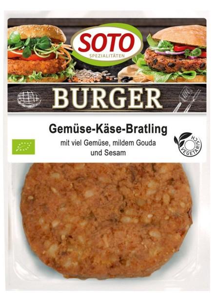 Burger Gemüse-Käse-Bratling mit Tofu 2St, 200g