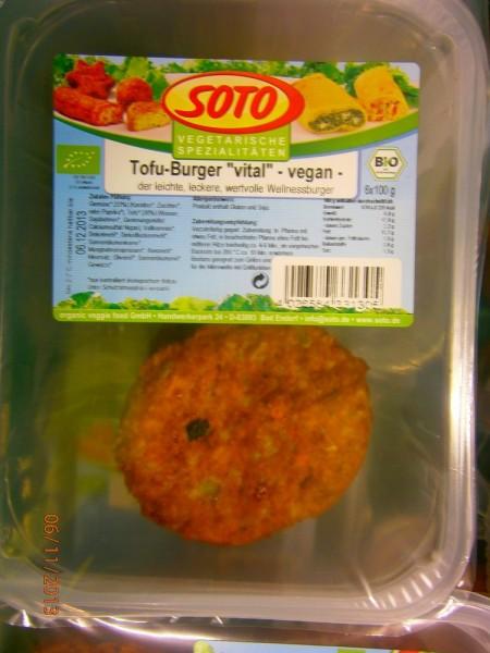 Tofu-Burger vital vegan - Theke, 100g
