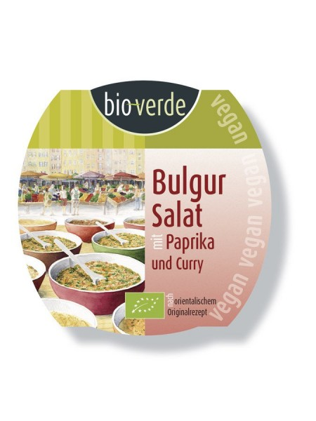Bulgur-Salat mit Paprika & Curry vegan, 125g