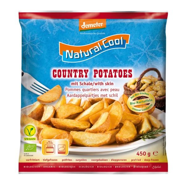 TK-Country Potatoes Wedges mit Schale DEMETER, 450g