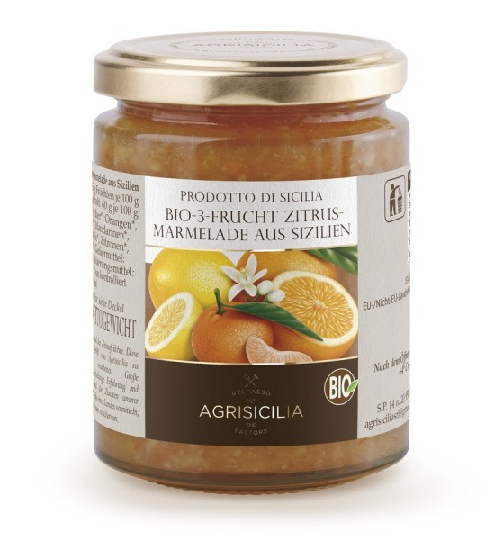 3-Frucht-Zitrusmarmelade aus Sizilien, 360g