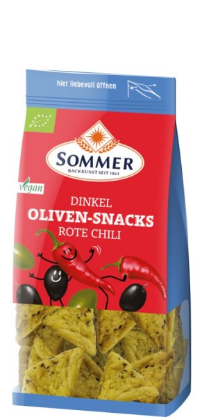 Dinkel-Oliven-Snacks Rote Chili, 150g