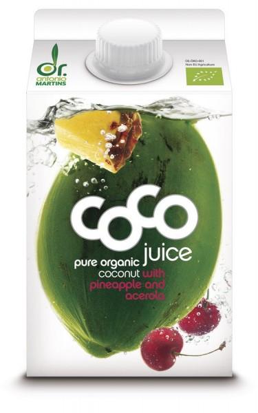 Cocojuice Ananas-Acerola - Elopak, 0.5l
