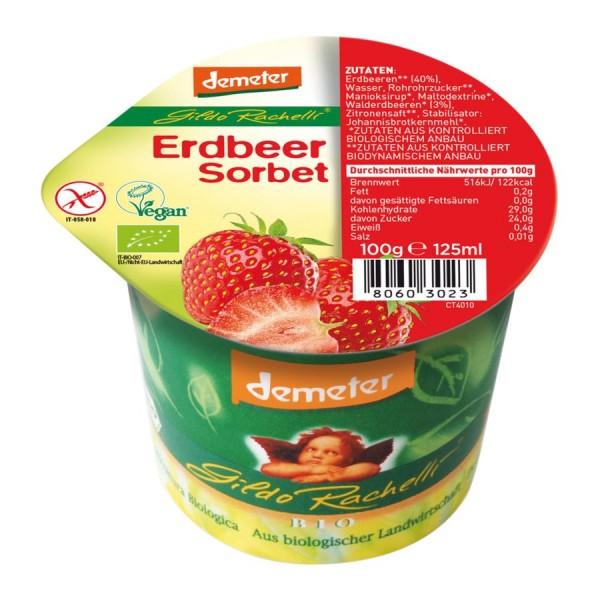 Eisbecher Erdbeersorbet DEMETER, 125ml