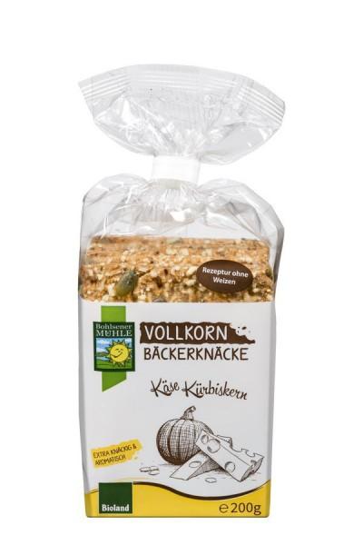 Bäckerknäcke Vollkorn-Käse-Kürbiskerne BIOLAND, 200g