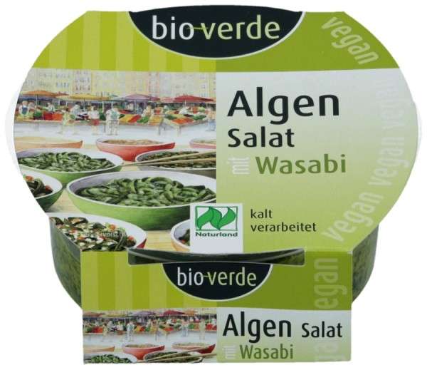 Algen-Salat Wasabi vegan, 100g
