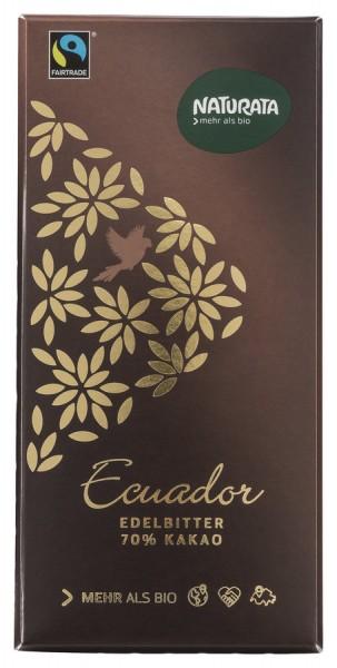 NATURATA Edelbitterschokolade Ecuador 70%, 100g