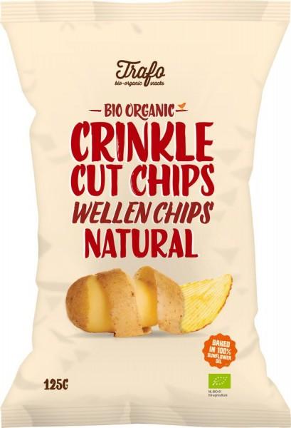 Kartoffel-Wellenchips gesalzen, 125g