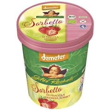 Familieneisbecher Erdbeersorbet DEMETER, 500ml