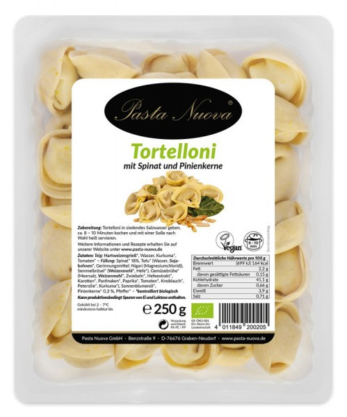 Tortelloni Spinat-Pinienkerne vegan, 250g